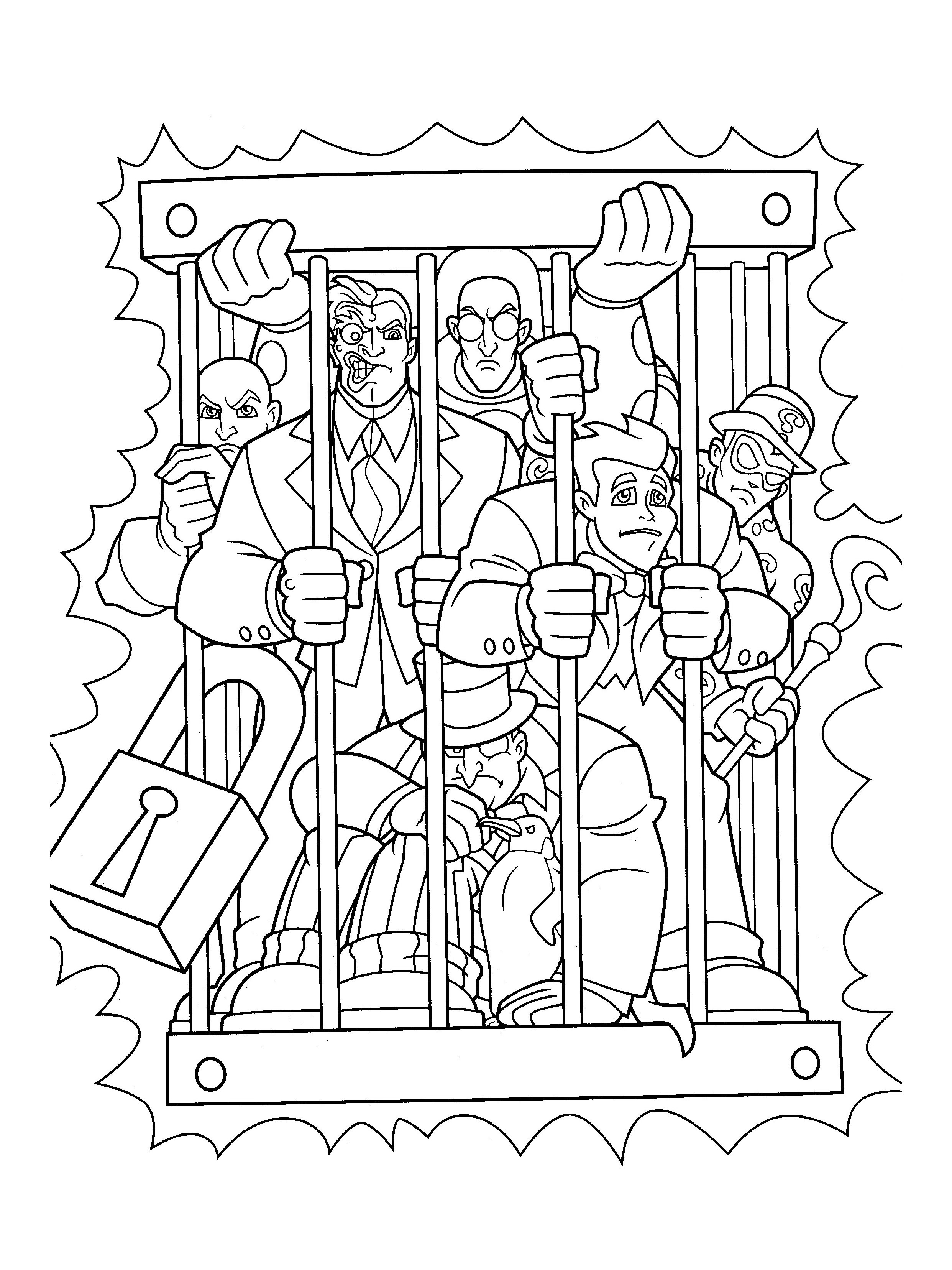 Batman coloring page to download for free