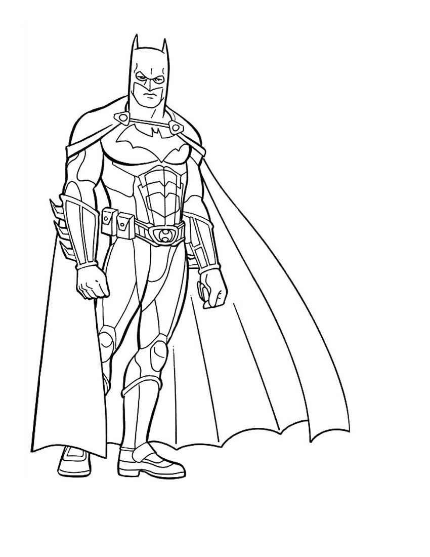 Beautiful Batman coloring page