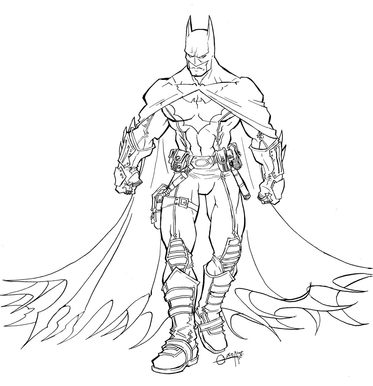 Batman coloring page to print and color