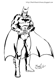 Cute free Batman coloring page to download