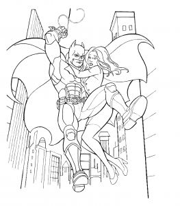 Coloring page batman free to color for kids