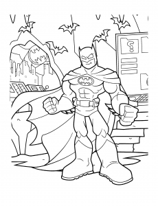 Coloring page batman to print for free