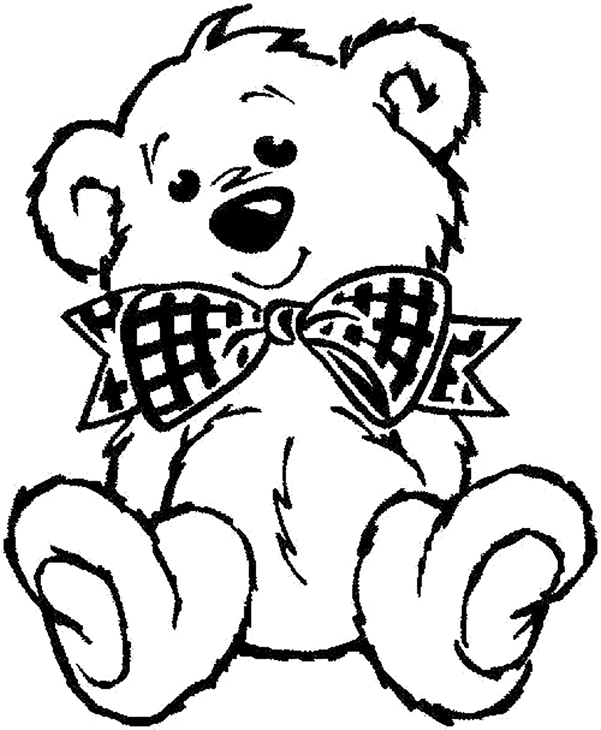 Top 18 Free Printable Teddy Bear Coloring Pages Online | 1457x1200