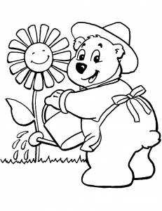 Coloring page bears free to color for kids