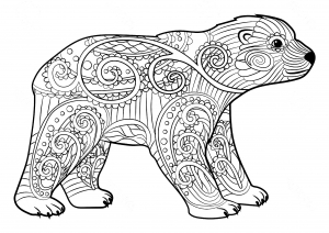 Printable Polar Bear Coloring Page | Polar bear coloring page ... | 212x300
