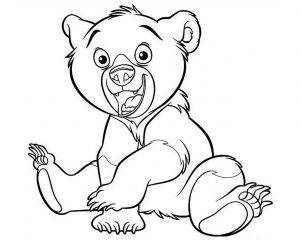 Coloring page bears to color for kids