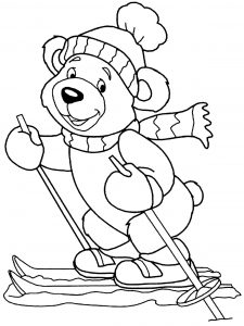 Coloring page bears to color for children