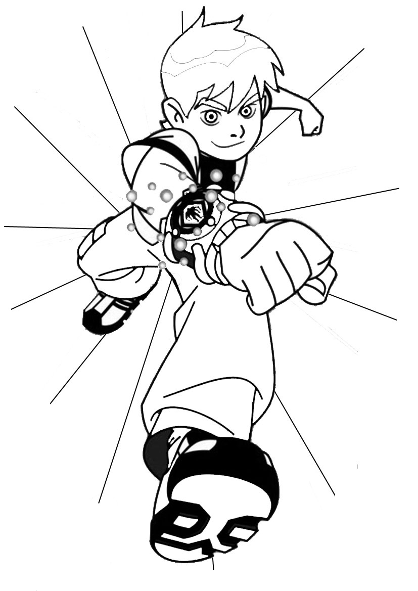 Printable Ben 10 Coloring Page To Print And Color
