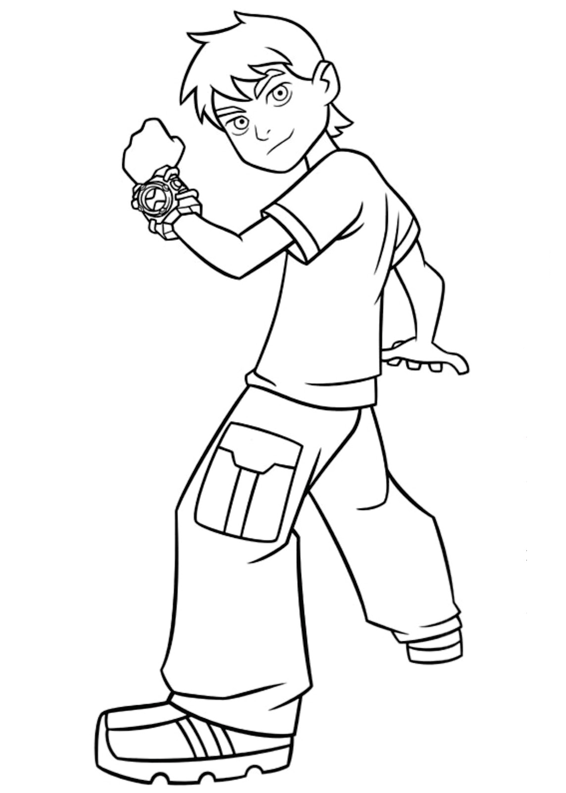 Incredible Ben 10 Coloring Page To Print And Color For Free