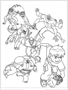 Simple Ben 10 Coloring Page To Print And Color For Free