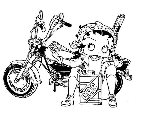 Betty Boop To Color For Children - Betty Boop Kids Coloring Pages