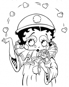 Coloring page betty boop to color for children