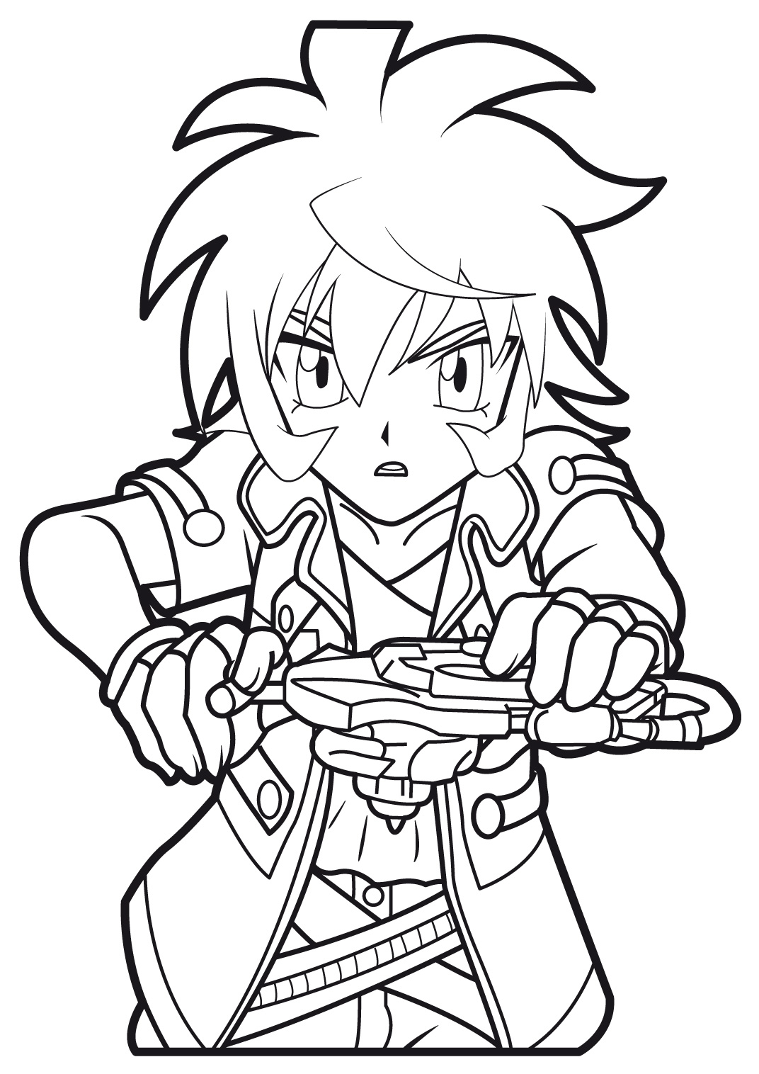 Beyblade Kids Coloring Pages