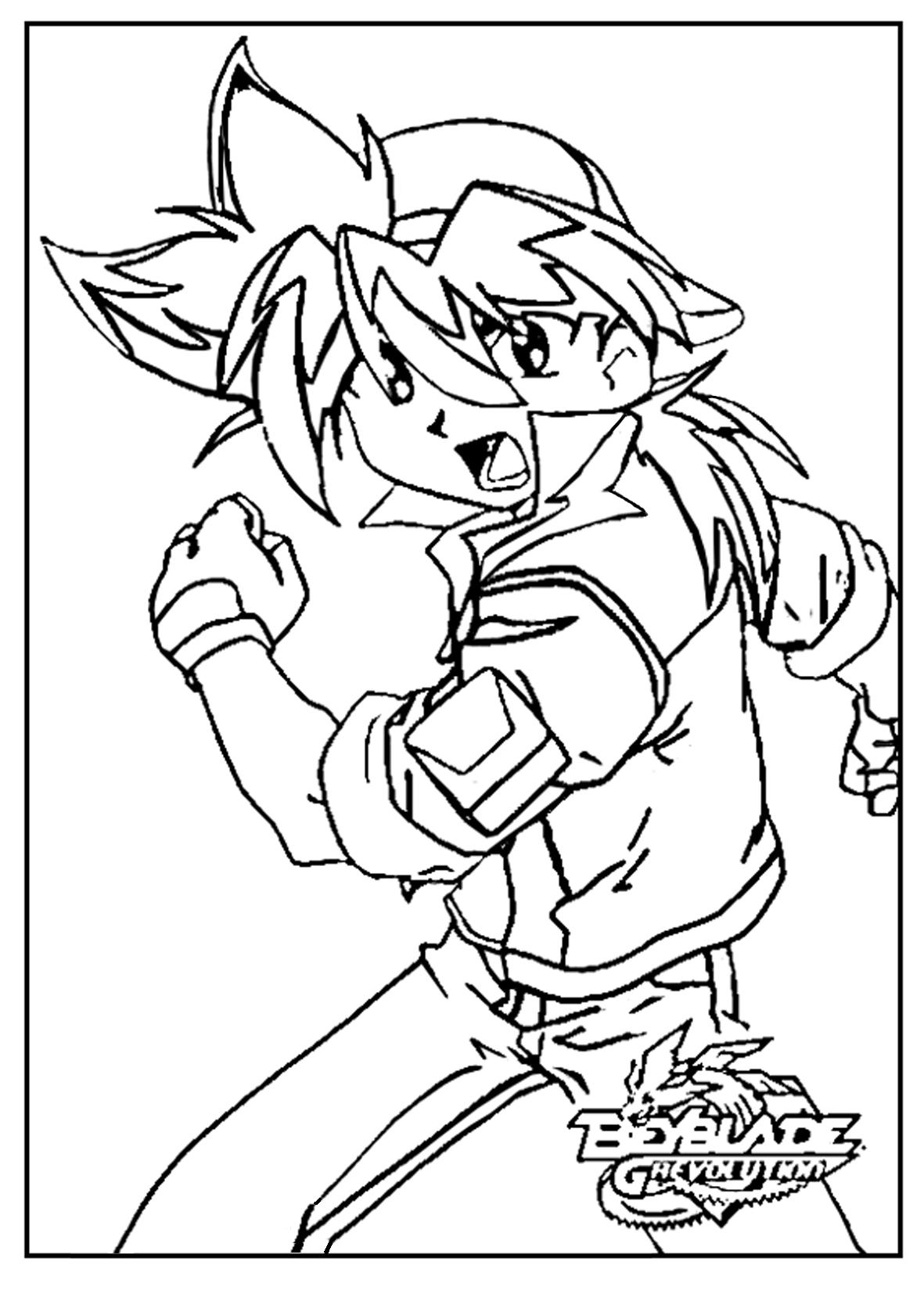 Incredible Beyblade coloring page to print and color for free