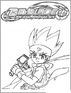 Coloring page beyblade to print