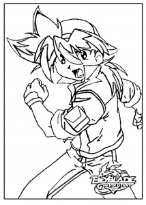 Coloring page beyblade to print for free