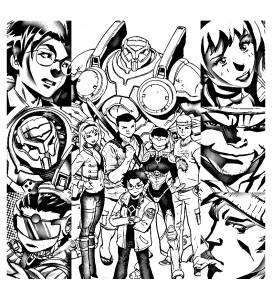 Coloring page big hero 6 to color for children