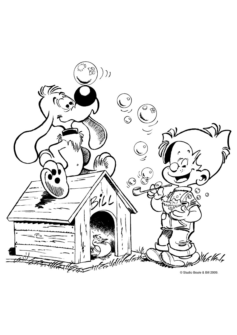 Simple Billy And Buddy coloring page to print and color for free