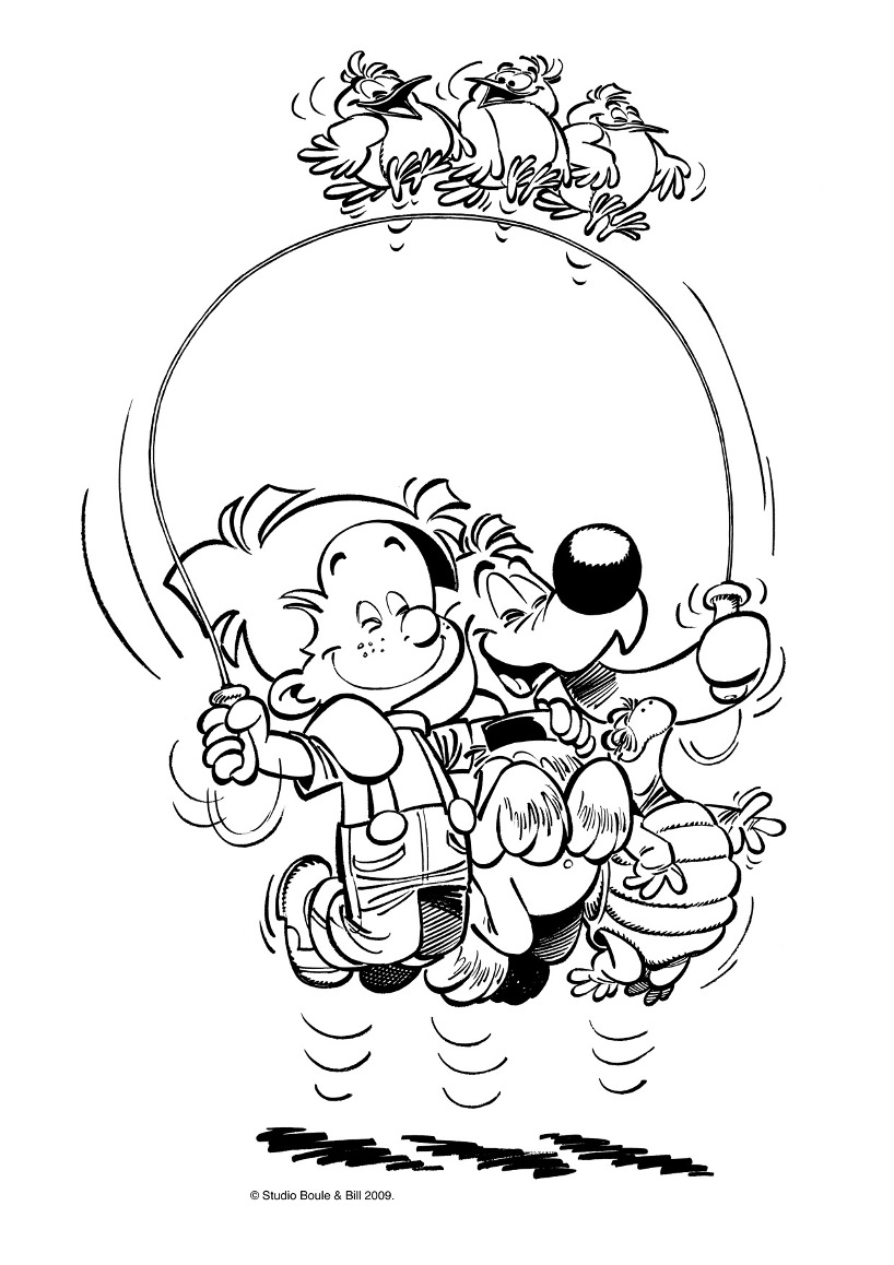 Funny Billy And Buddy coloring page