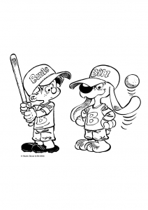 Coloring page billy and buddy to color for children