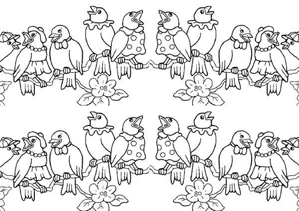 Free Birds coloring page to download