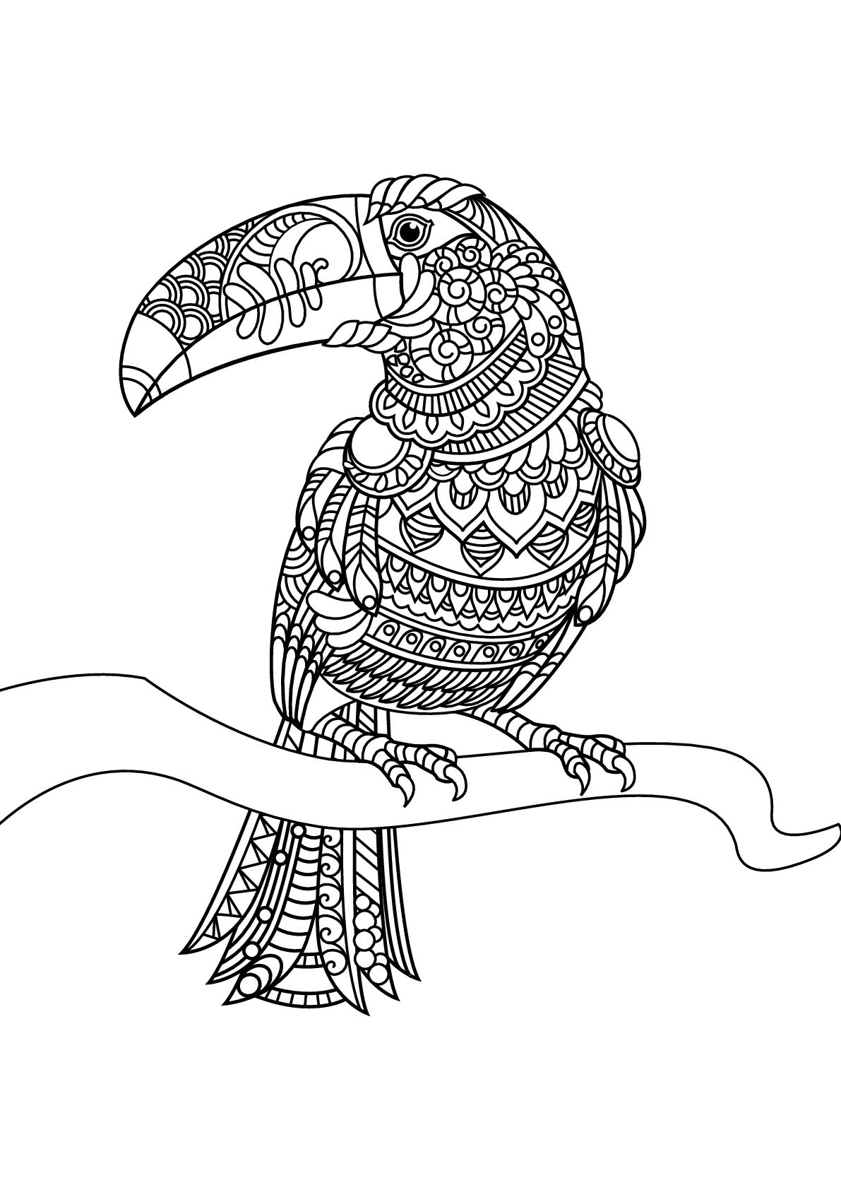 Birds free to color for children - Birds Kids Coloring Pages