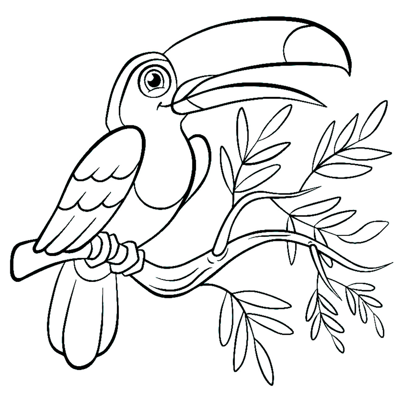 Printable Birds coloring page to print and color