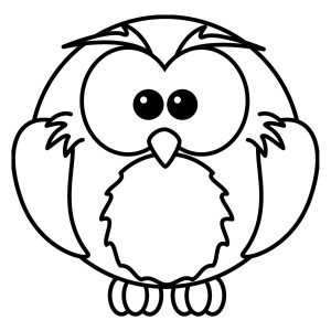 Coloring page birds for kids