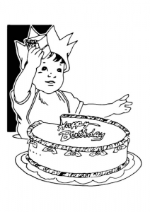 Coloring page birthdays to download