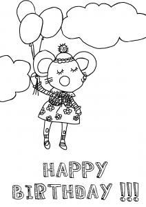 Coloring page birthdays to print