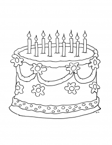Coloring page birthdays to color for children