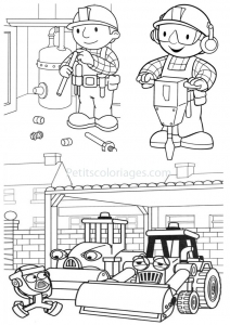 Coloring page bob the builder to print for free