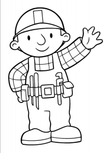 Coloring page bob the builder free to color for children