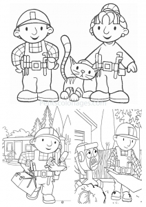 Coloring page bob the builder free to color for kids