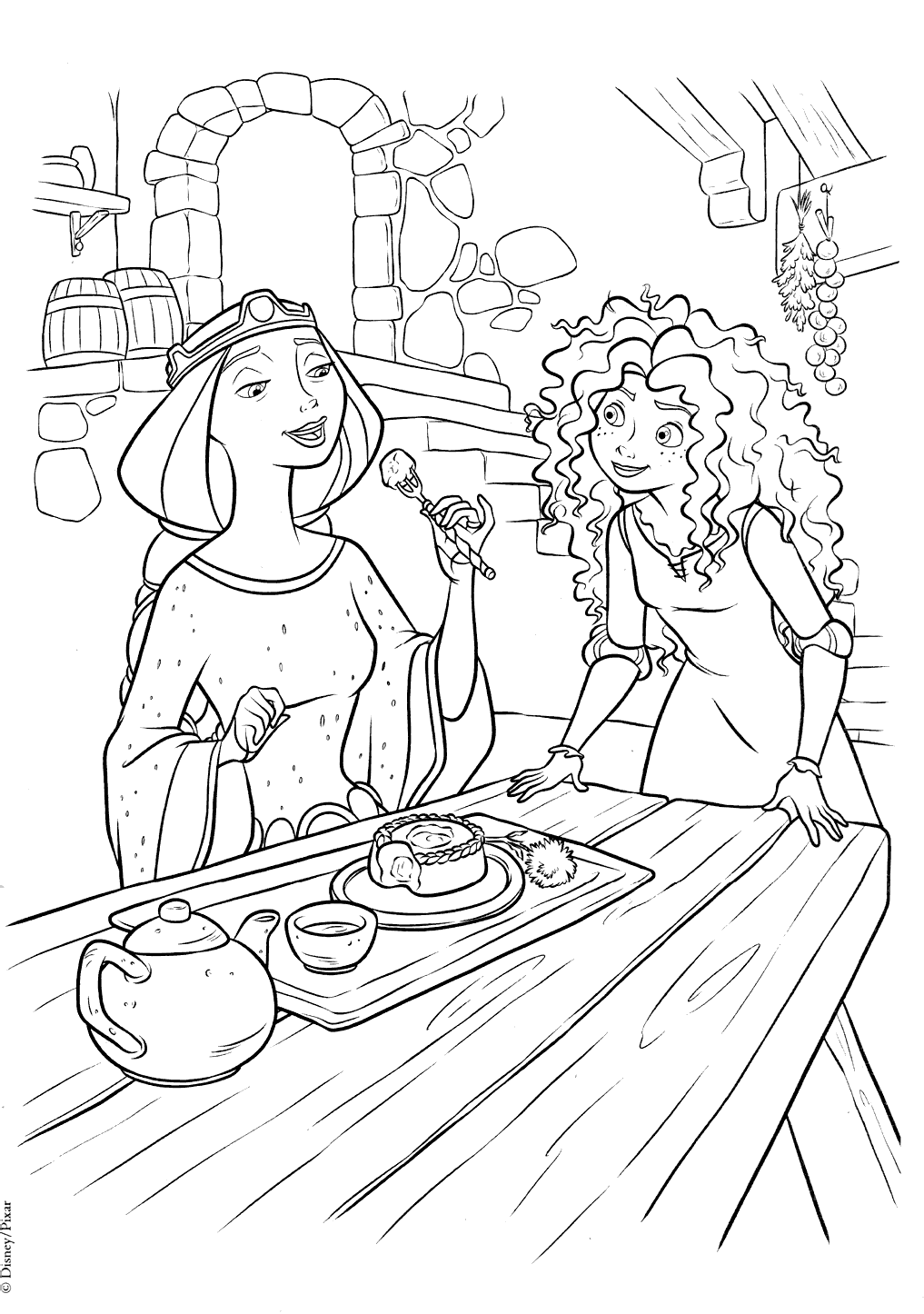 Brave coloring picture | 1446x1017