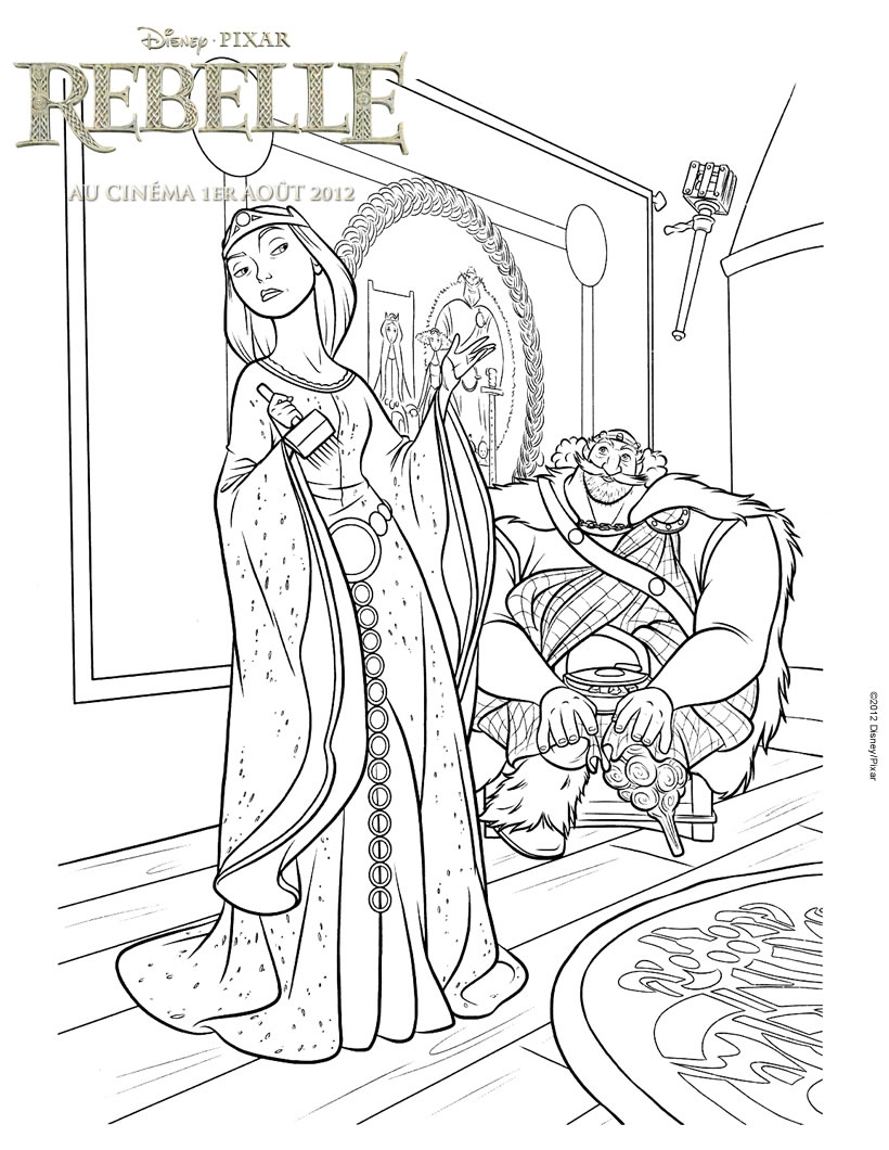 Printable Brave coloring page to print and color