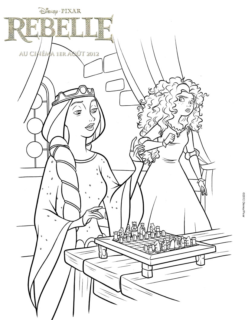 Simple Brave coloring page to download for free