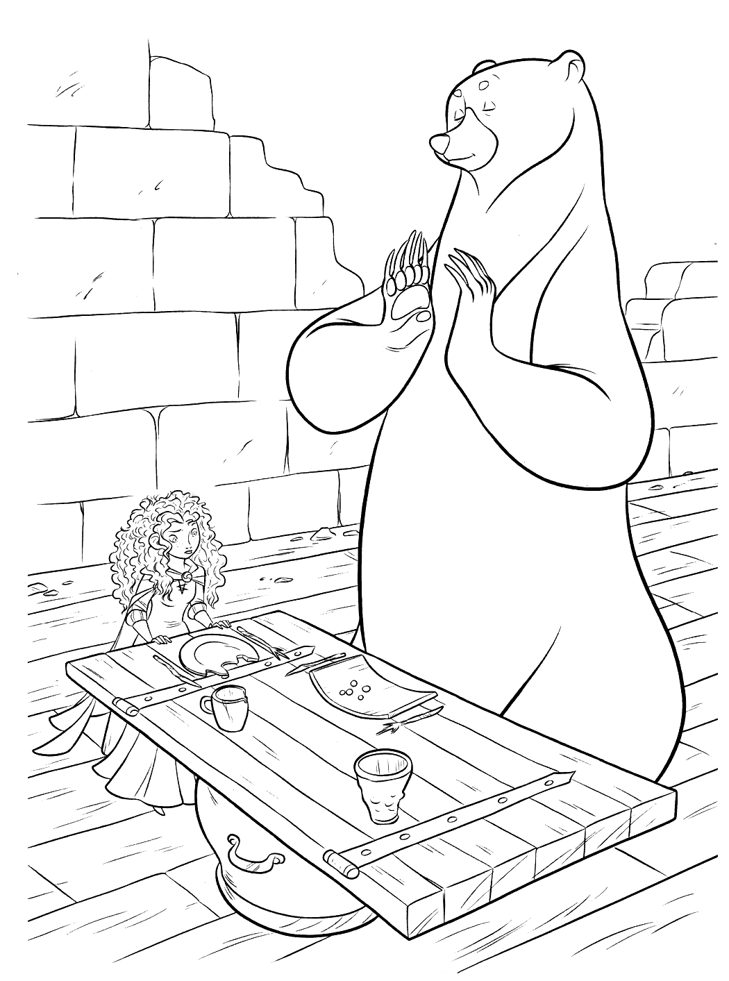 Brave to color for kids - Brave - Coloring pages for kids