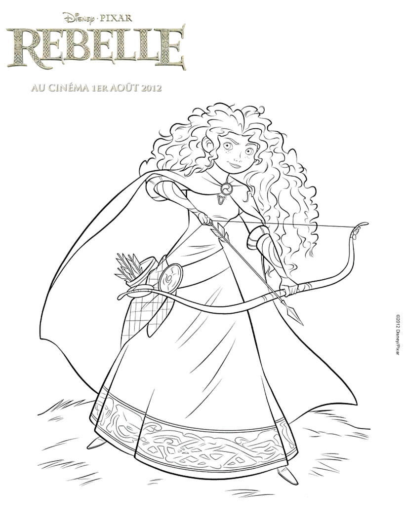 Cute free Brave coloring page to download