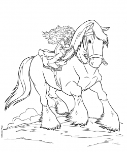 Coloring page brave free to color for kids