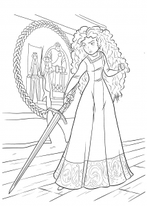 Coloring page brave to print