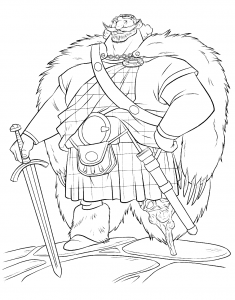 Coloring page brave for kids