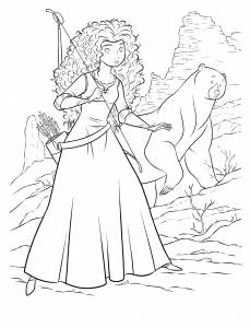 Coloring page brave for children