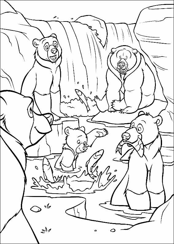 Brother Bear coloring page to download for free