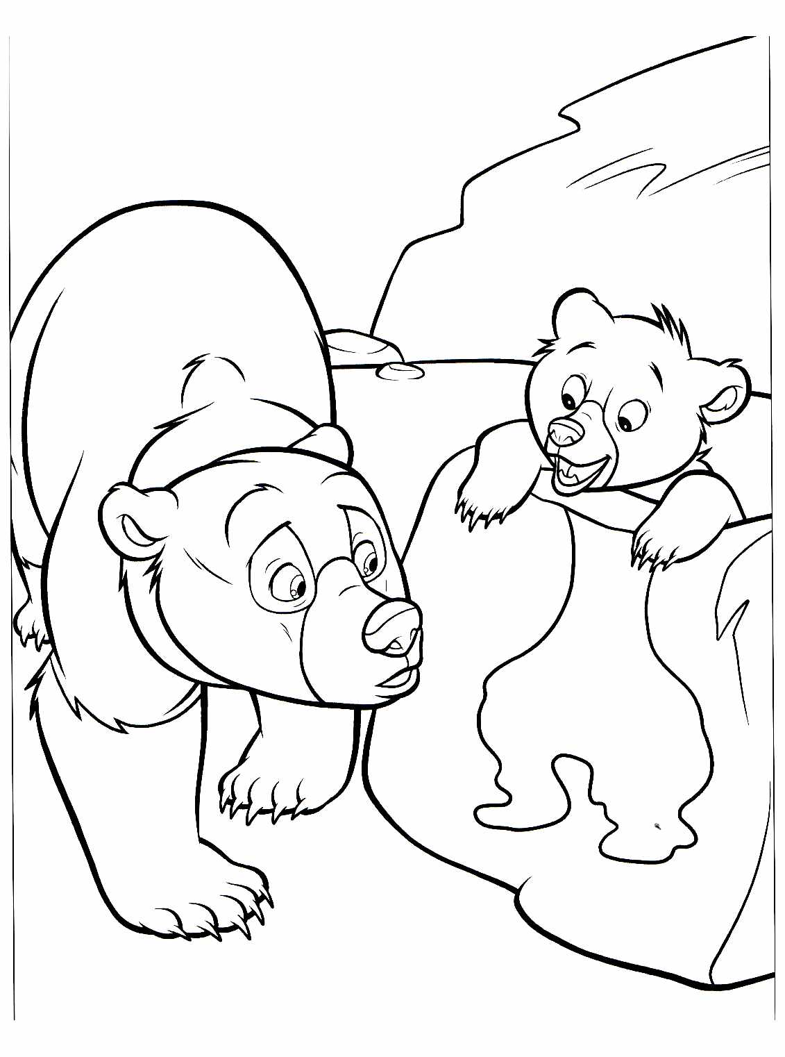 Free Brother Bear coloring page to download, for children