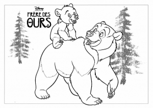Coloring page brother bear to print