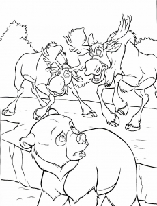 Coloring page brother bear free to color for children