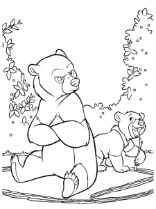 Coloring page brother bear for kids