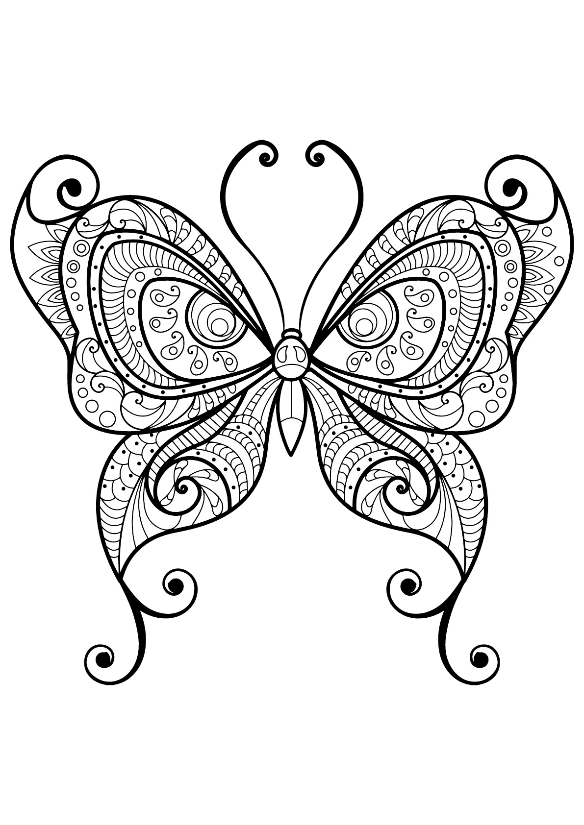 Butterflies free to color for kids - Butterflies - Coloring pages ...