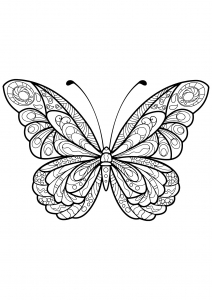 Coloring page butterflies for children